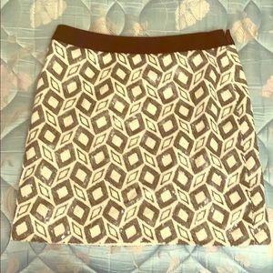 Banana Republic black & white sequin skirt